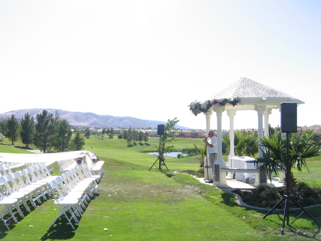Wedding DJ Ceremony Setup
